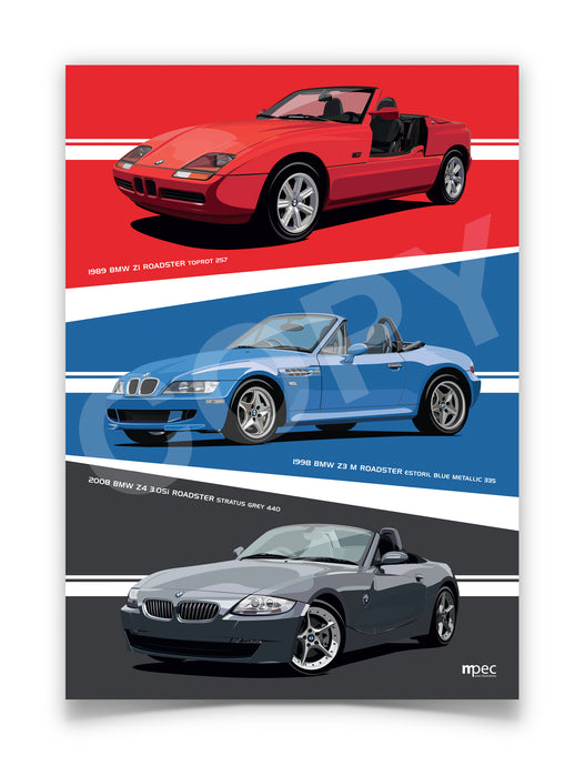 Illustration of Evolution of BMW Z Series