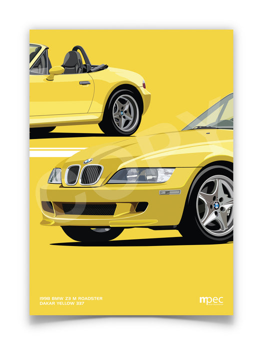 Illustration 1998 BMW Z3 M Roadster Dakar Yellow 337