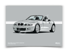 Load image into Gallery viewer, Landscape Print of 2001 BMW Z3 2.2 Roadster in Titan Silver 354