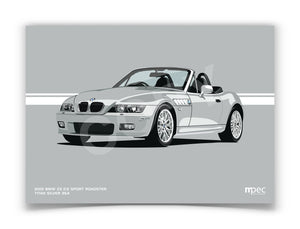 Landscape Illustration 2001 BMW Z3 2.2 Roadster Titan Silver 354
