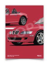 Load image into Gallery viewer, Print of 1998 BMW Z3 M Roadster in Imola Red 405 - Close Ups