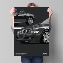 Load image into Gallery viewer, Illustration 1998 BMW Z3 M Roadster Cosmos Black 303
