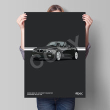 Load image into Gallery viewer, Print of 2002 BMW Z3 2.2 Roadster in Sapphire Black 475