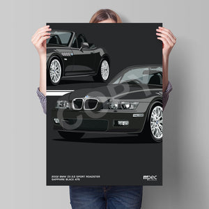Print of 2002 BMW Z3 2.2 Roadster in Sapphire Black 475 - Close Ups