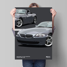 Load image into Gallery viewer, Print of 2008 BMW Z4 3.0Si Roadster in Stratus Grey 440 - Close Ups