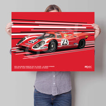 Load image into Gallery viewer, Landscape Print of 1970 Salzburg Porsche 917 KH Coupé