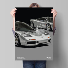 Load image into Gallery viewer, Print of 1993 McLaren F1 in Magnesium Silver - Close Ups