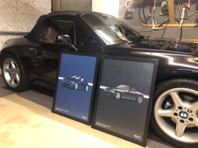 Load image into Gallery viewer, Print of 2008 BMW Z4 3.0Si Roadster in Stratus Grey 440 - Double
