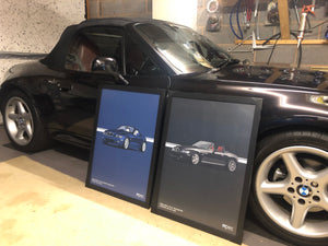 Print of 2008 BMW Z4 3.0Si Roadster in Stratus Grey 440 - Double