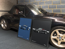 Load image into Gallery viewer, Landscape Print of 2002 BMW Z3 2.2 Roadster in Sapphire Black 475