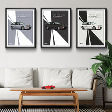 Load image into Gallery viewer, Print of 1987 Ford Sierra RS Cosworth in Black A6 - Lines