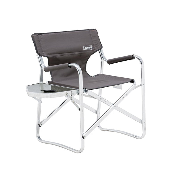 Coleman Directors Chair Folds Flat Grey