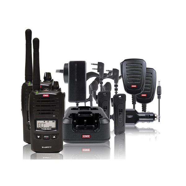 GME 5 Watt TX6160 UHF CB Handheld Radio - Twin Pack