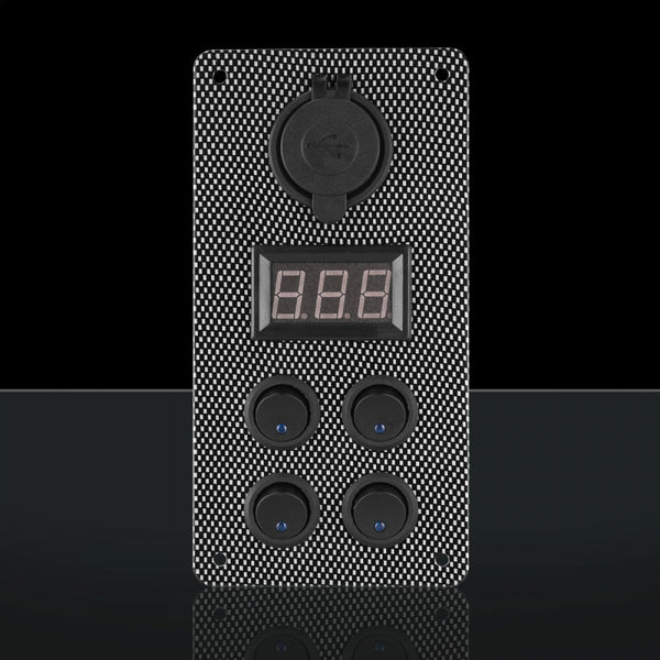 Stedi CARBON SWITCH PANEL WITH USB AND DIGITAL VOLT METER