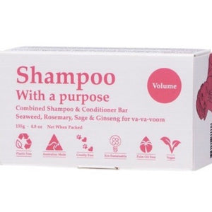 SHAMPOO WITH A PURPOSE Shampoo & Conditioner Bar Volume - 135g