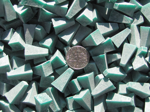 "4 Lb. 3/8"" X 5/8"" Pyramid Plastic Tumbling Tumbler Tumble Dark Green Media (X) General Purpose"