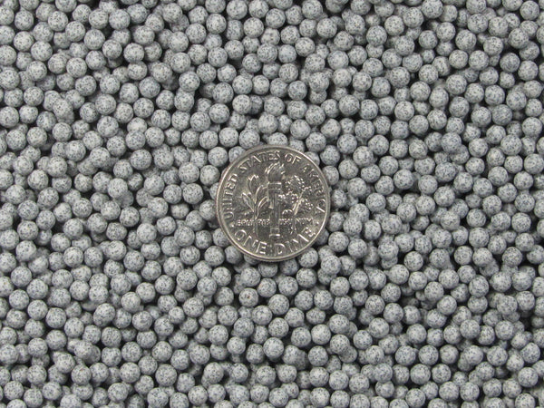2 Lbs. 3 mm Fast Cutting Grey Abrasive Sphere Ceramic Porcelain Tumbling Media - Algrium