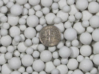 2 Lbs. 6 mm, & 10 mm Mixed Polishing Sphere Ceramic Tumbling Media - Algrium