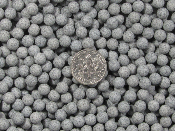 2 Lbs. 6 mm Fast Cutting Grey Abrasive Sphere Ceramic Porcelain Tumbling Media - Algrium