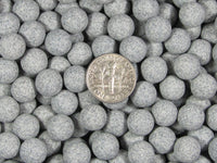 2 Lbs. 9 mm Fast Cutting Grey Abrasive Sphere Ceramic Porcelain Tumbling Media - Algrium