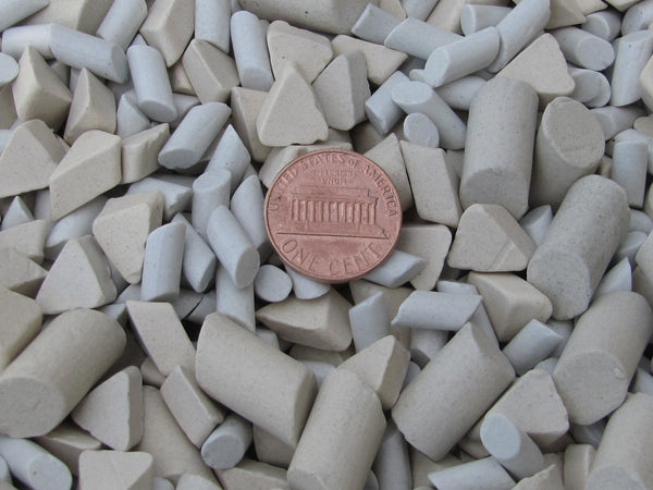 "9 Lb. 3/16"" X 3/8"" & 3/8"" X 5/8"" Cylinder, 3/8"" X 1/4"" Triangle Mixed Polish Non-Abrasive Ceramic Tumbling Tumbler Tumble Media"