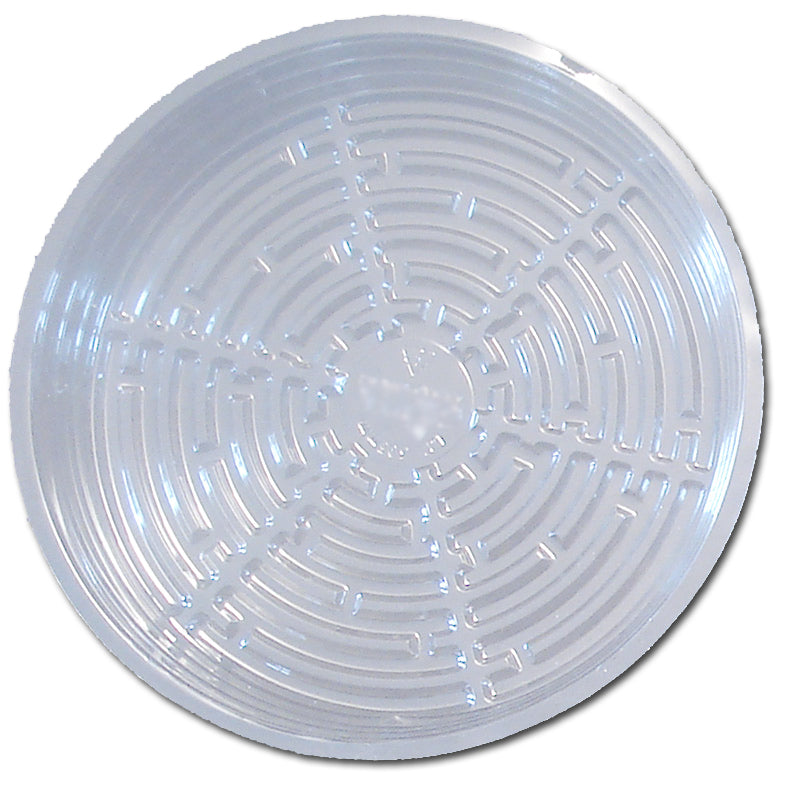12 Clear Plastic Saucer