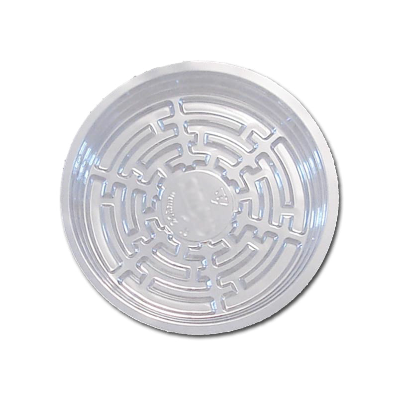 8 Clear Plastic Saucer