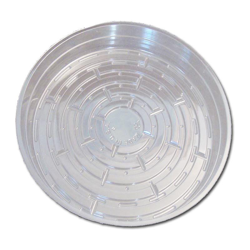 9 Clear Plastic Saucer