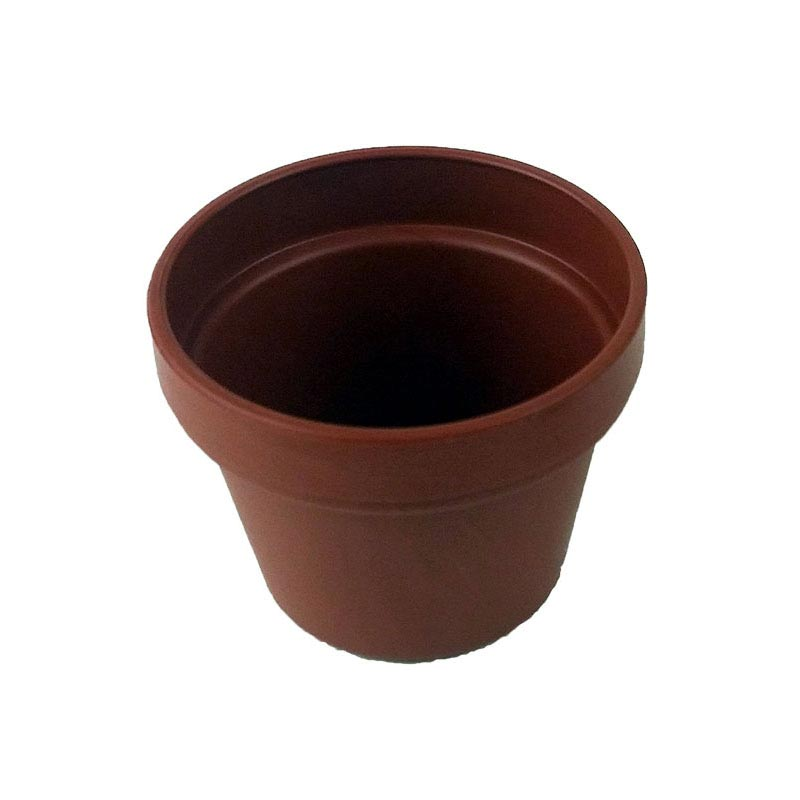 1.5 Miniature Plastic Violet Pot - Terracotta