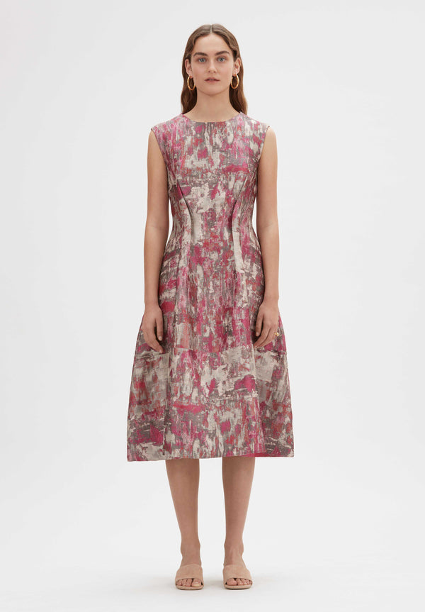 Aabroo Handloomed Midi dress