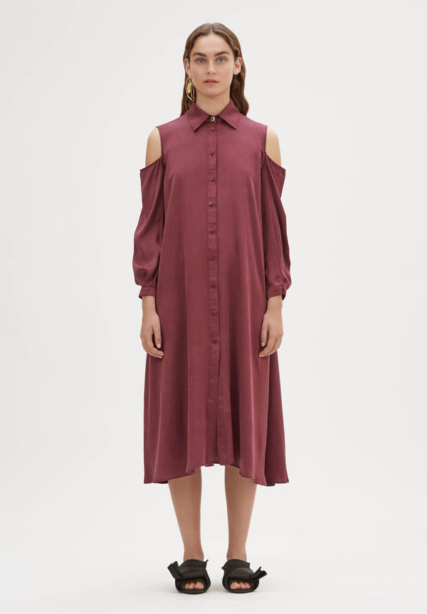 Nirvana Silk Shirt Dress