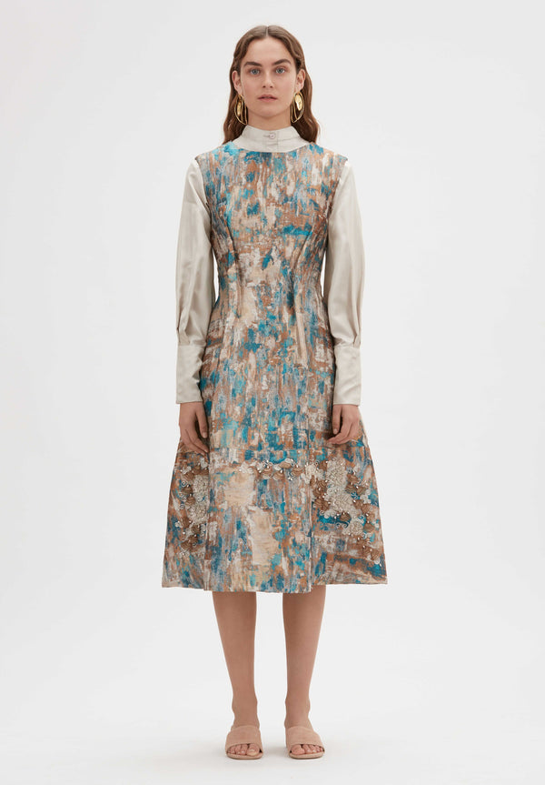 Noor Handloomed Midi dress