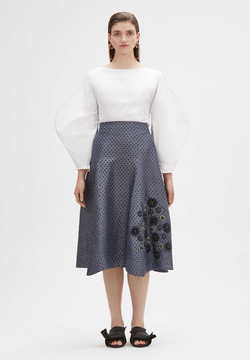 Fatin Hand-Embroidered Skirt