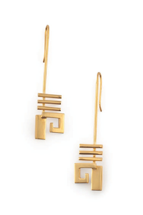 Mini Disrupted Earrings - Gold
