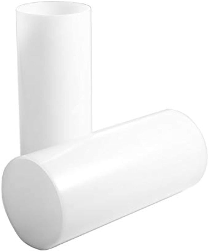 Opal white  Shade Straight Cylinder Lamp Shade,Glass Candle Shade Replacement, Accessory Glass Fixture Replacement Diameter 4 inches