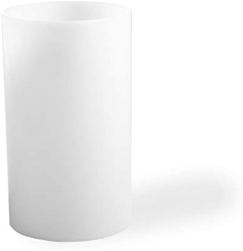 Opal white  Shade Straight Cylinder Lamp Shade,Glass Candle Shade Replacement, Accessory Glass Fixture Replacement Diameter 2 inches