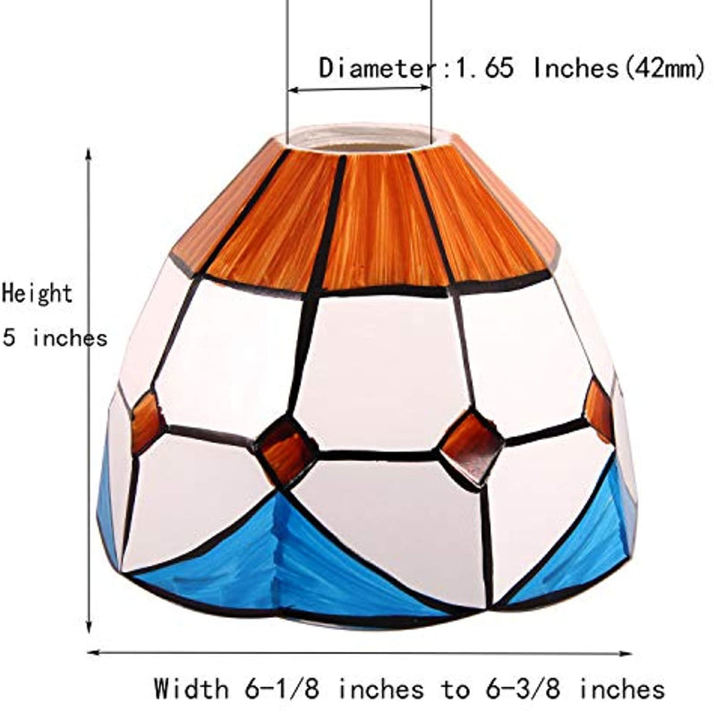 Tiffany Style Handmade Lampshade Replacement,Glass Lampshade,Flush Mount Light Glass Shade Ceiling Light Fixture for Chandelier Light,Wall Lamp,Desk Lamp (004)