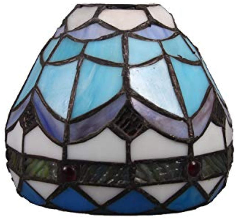 Tiffany Style Flower Stained Glass Replacement Table Lamp Shades (Only Lampshade,Exclude Accessories) (017)