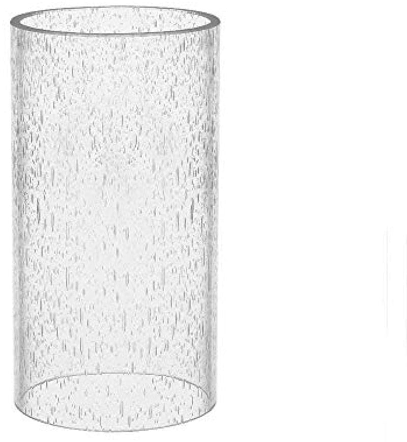 Large Size Bubble Straight Cylinder, Bubble Glass Cylinder Open Both Ends, Open Ended Bubble, Glass Lamp Shade Replacement Diameter 5.5 inches