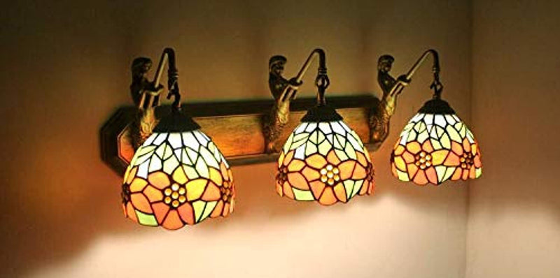 Tiffany Style Flower Stained Glass Replacement Table Lamp Shades (Only Lampshade,Exclude Accessories) (011)