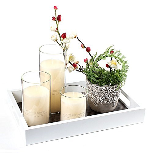 Borosilicate Glass, Clear Candle Holder, Glass Chimney for Candle Open Ended, Glass Hurricane Candle Holders Diameter 7 inches