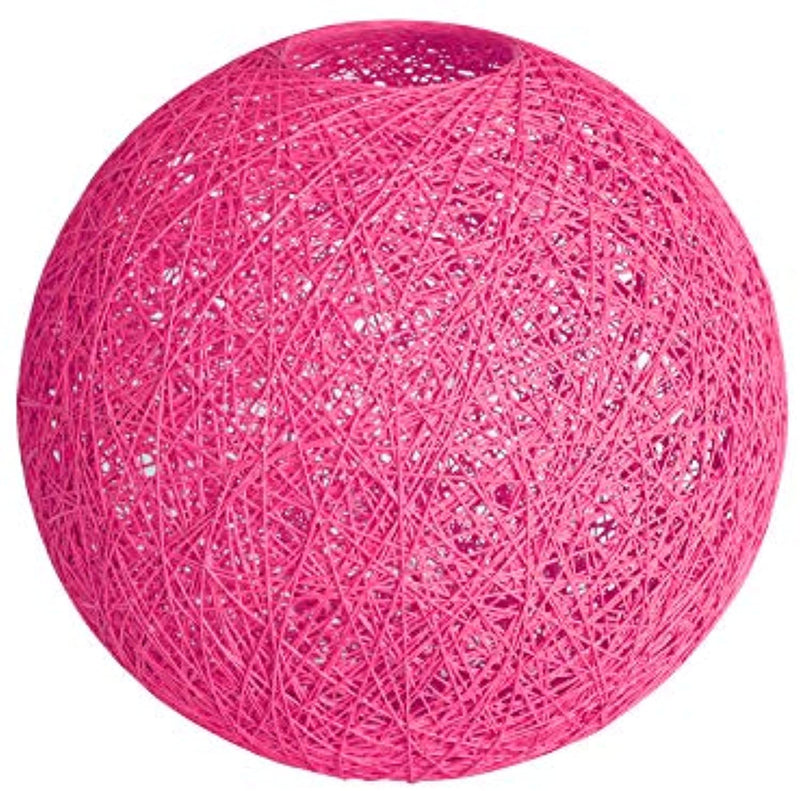 Lighting Fixture Replacement, Round Globe Shade, Hemp Globe Lamp Shade,Globe Lamp Shade Replacement (Pink)