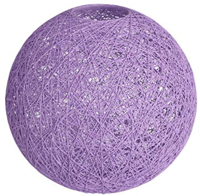 Lighting Fixture Replacement, Round Globe Shade, Hemp Globe Lamp Shade,Globe Lamp Shade Replacement (Purple)