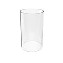 GLS Crystal Borosilicate Glass, Clear Candle Holder, Glass Chimney for Candle Open Ended, Glass Hurricane Candle Holders Diameter 3.5 inches