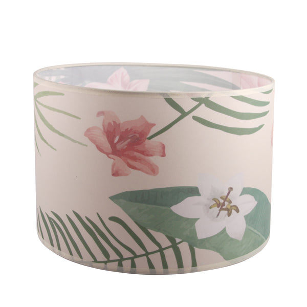 Fabric Drum Lampshade,Flower Surface Watercolor Style lampshade with European Attachment or Spider Attachment