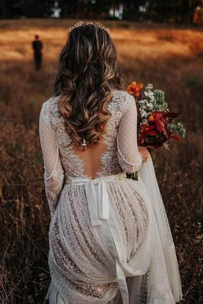 boho wedding dress idea