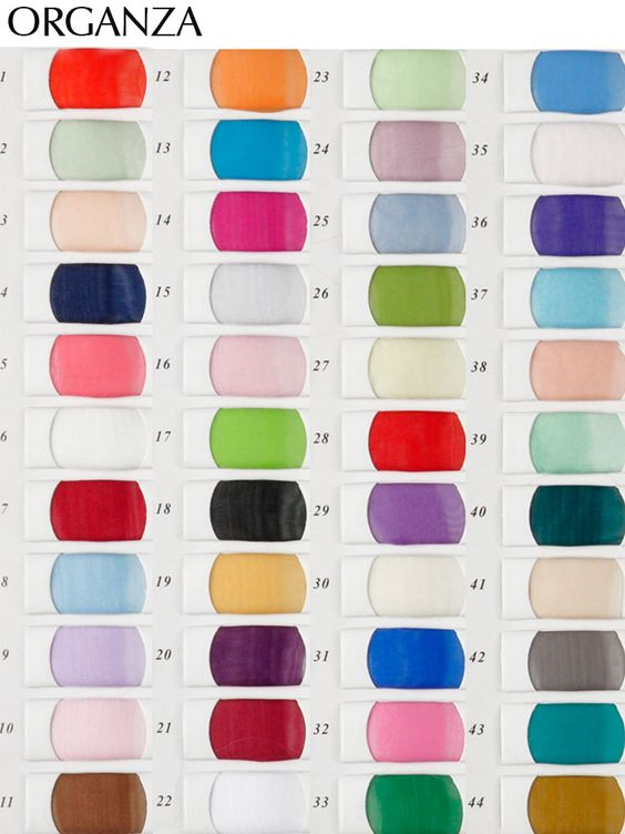 Organza Color Chart - daisystyledress