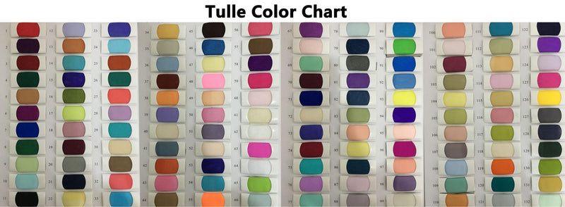 Tulle Color Chart - daisystyledress