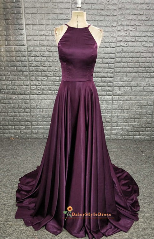 grape prom dress