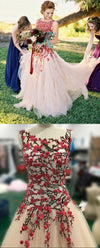 Blush Wedding Dress with Handmade Floral - daisystyledress